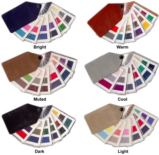 colour supplies - ladies safe tone fabric fans (18 shades)