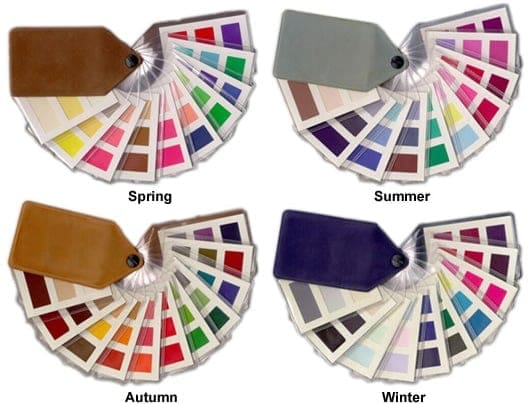 colour supplies - ladies seasonal colour fabric fans