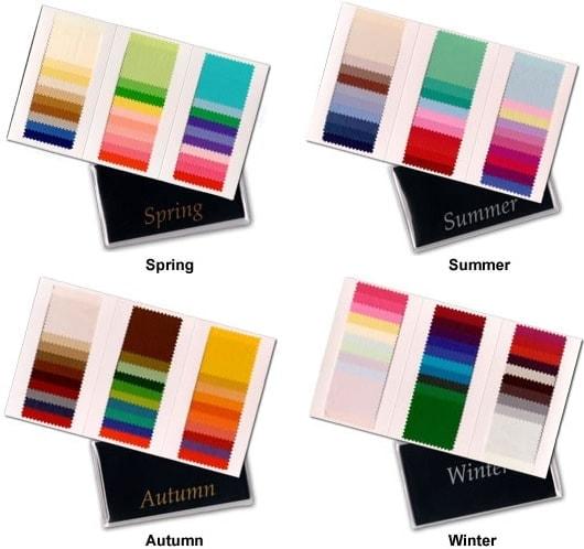 colour supplies - colour analysis seasonal wallets