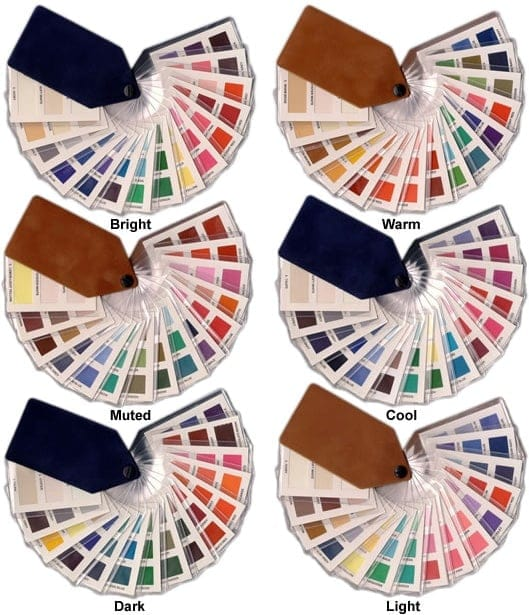 colour supplies - ladies tonal fabric fans (45 shades)