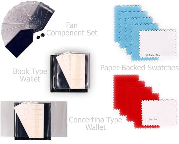 colour supplies - create your own colour analysis swatch wallets